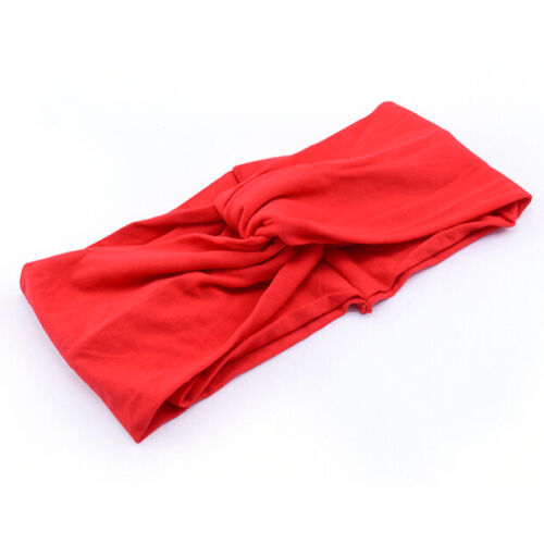 Women Cotton Turban Twist Knot Head Wraps Headbands Twisted Knotted Hair Band VH