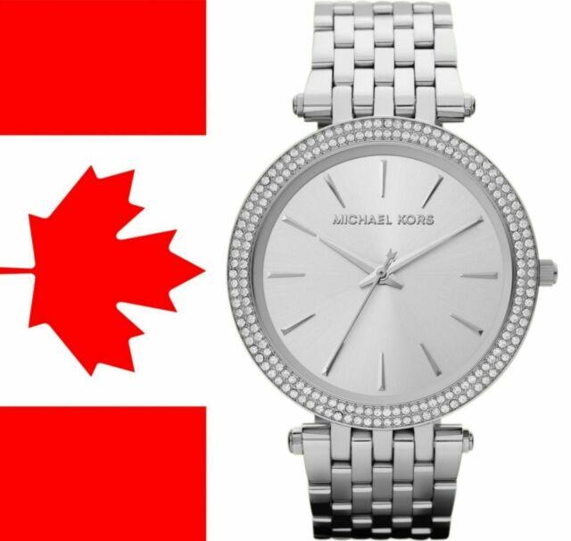 "Michael Kors MK3190 ""Darci"" 39mm Silver Dial Pave Bezel Ladies Watch"
