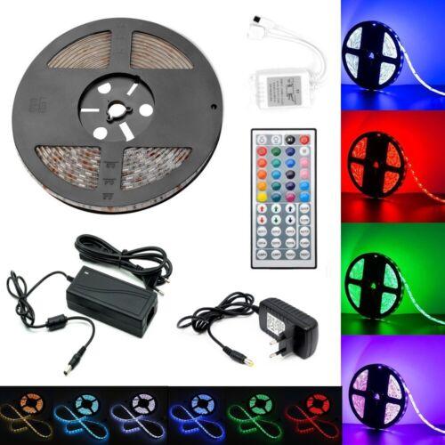1m-30m 5050 SMD 30//60 LED RGB Leiste Strip Streifen Band Fernbedienung Netzteil