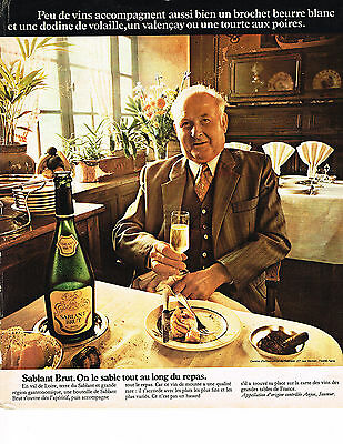 Breweriana, Beer Purposeful Publicite Advertising 1975 Sablant Brut Vin Mousseux Moderate Price