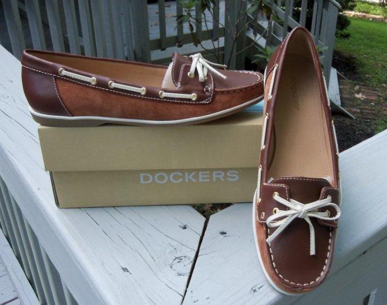 Dockers Para Mujer jensa jensa jensa Cuero Marrón Barco Zapatos Tamaños  Nuevo En Caja Nuevo 9d0ef4