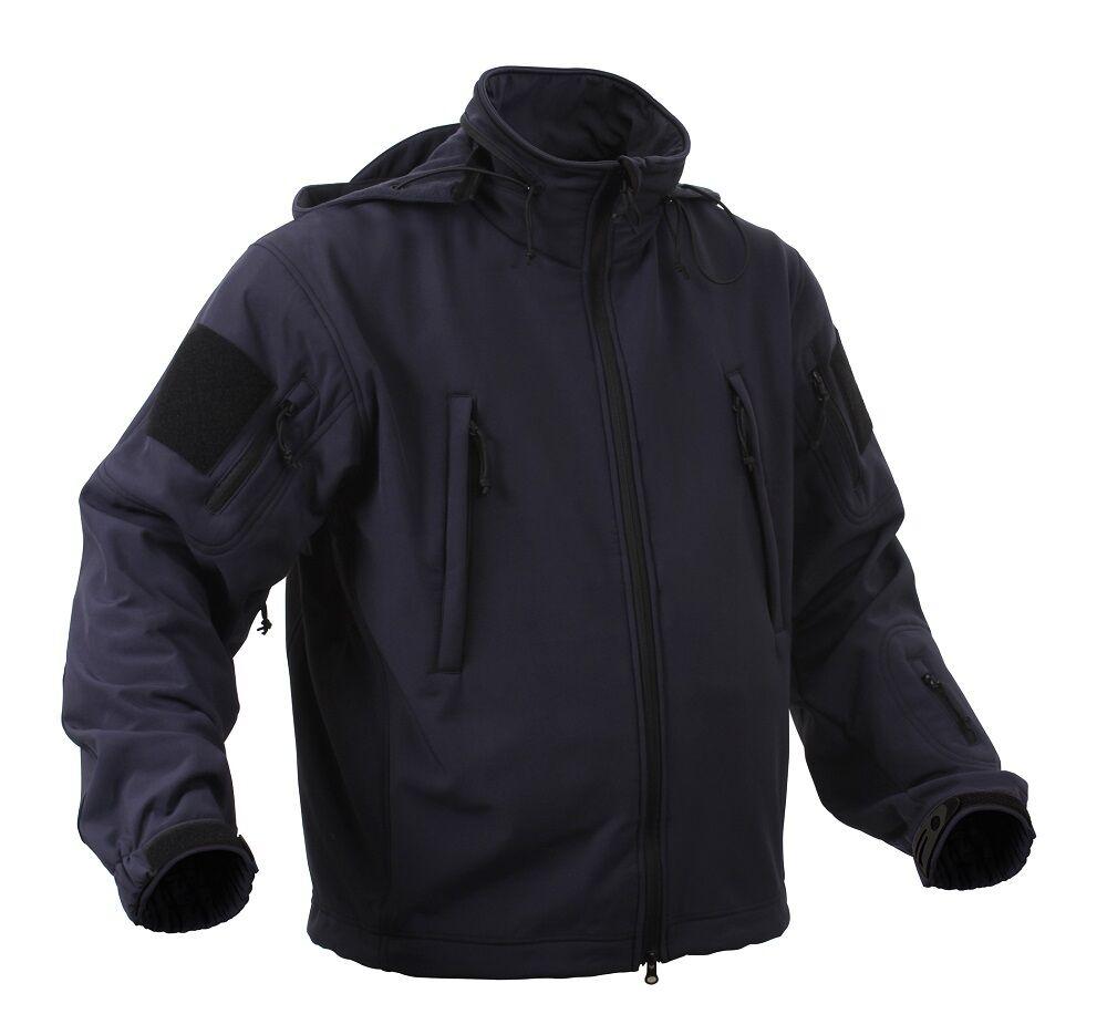 US SPEC OPS Softshell Fleece TACTICAL SOFTSHELL JACKET JACKE Navy blue 4XL XXXXL