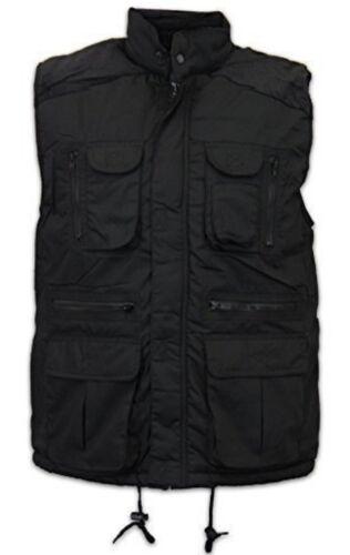 Hommes M-5XL Noir Veste sans manches WorkGuard Rembourré Gilet Body Warmer Multi Poche