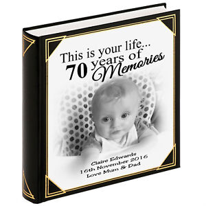 Details About Personalised Large Photo Album Guestbook 400 X 6x4 Photos 70th Birthday Gift