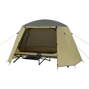 1 One Person Elevated Padded Cot Tent Rainfly Gear Loft