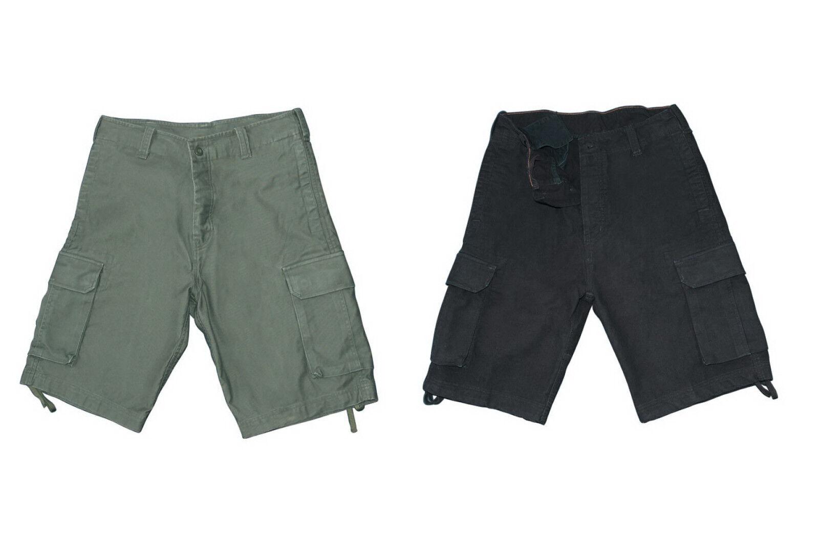 Army Bermuda Vintage-Shorts aus robustem Moleskingewebe kurze Hose S M L XL XXL
