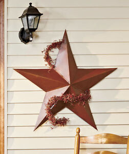 3-FT-Tall-Rustic-Outdoor-Dimensional-BARN-STAR-Country-Farmhouse-Home-Decor-36-034