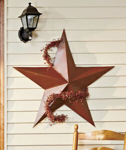 36 metal rustic dimensional barn star indoor outdoor wall for Barn star decorations home