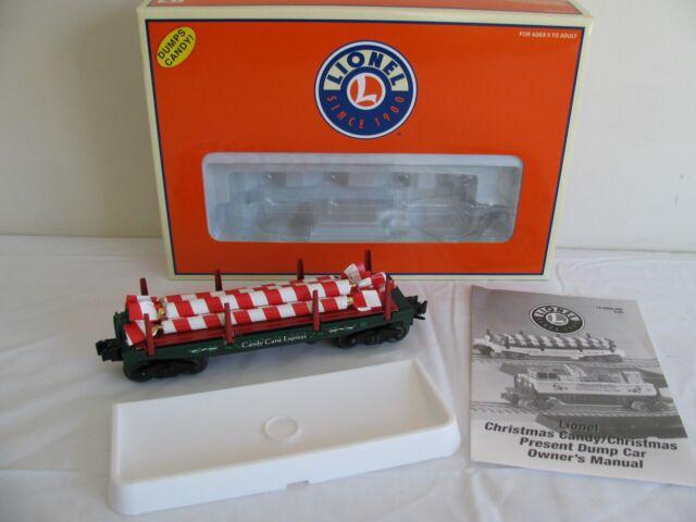 Christmas Candy Train.Lionel Trains O O 27 Scale Operating Christmas Candy Cane Dump Car 6 36804