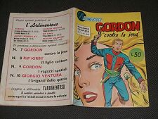 """L'ARDIMENTOSO N.7 - GORDON """"CONTRO LA JENA"""" - ESIZIONI SERPENTE VOLANTE 1960 """"N"""""""