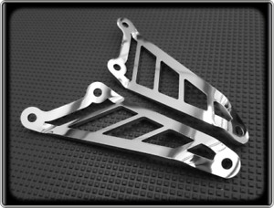 Exhaust-Hangers-for-APRILIA-RSV-MILLE-R-1000-2006-to-2010-Polished-Brackets
