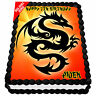 Dragon Edible Icing Cake Image Personalised A4 Party Decoration Topper