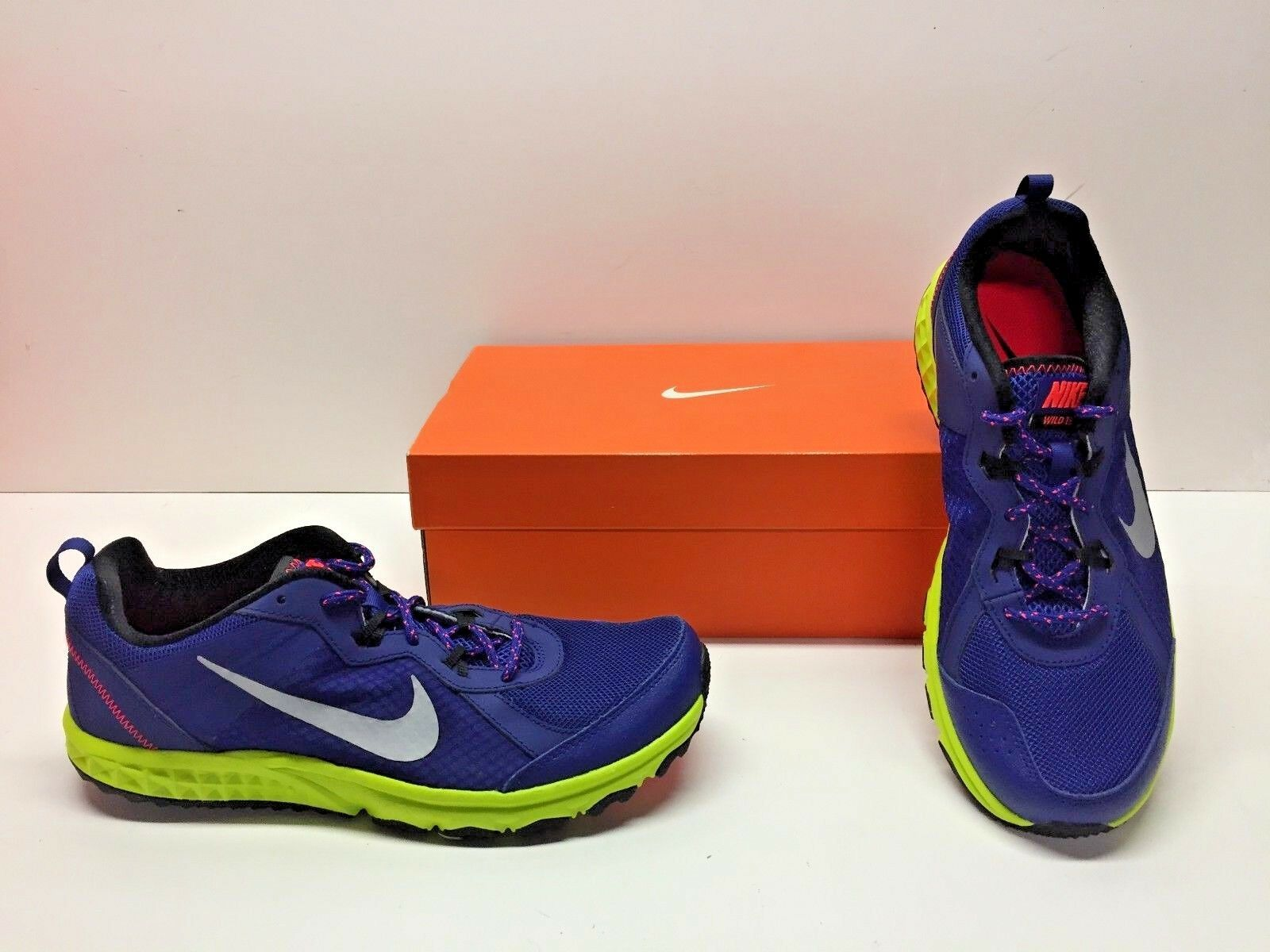 Nike Wild Wild Nike Trail Running Cross Training Blue Athletic Sneakers Shoes Mens 10 9575d0