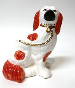 "Cavalier King Charles Spaniel Ceramic Figurine Chinese Foo Dog Style 7.5"" x 6"""