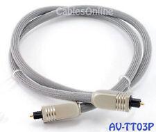 3 ft. Premium Toslink Digital Audio Optical Cable/ Cord