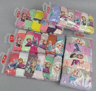 New undies Disney Frozen knickers 6 pcs per pack girls Briefs cotton panties