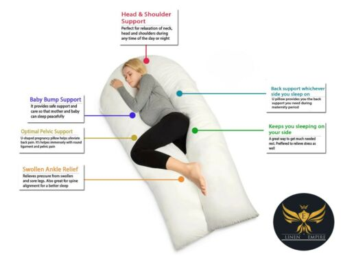 9ft Comfort U Pillow Or Case Full Total Body Pregnancy Maternity Support