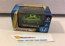 Hot Wheels * Honda Civic SI * GREEN * 1/87 Scale in Acrylic Case * h39