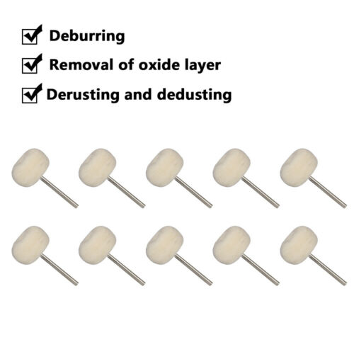 "20Pcs 1 In Polishing Buffing Wool Cotton Brush Wheel for Rotary Tool 1//8/"" Shank"