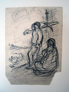 """""""miner And Wife"""" Drawing By Eugene Higgins Art Drawings"""