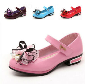Kids-Girl-Child-Bow-Flower-Dress-Shoes-Princess-Mary-Dance-Party-Flats