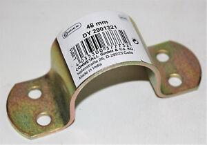 Connex-Rohrschelle-48mm-gelb-verzinkt-Buegelschelle-Zaunschelle-Neu-01321