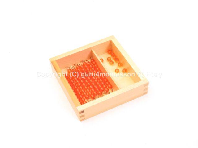 CLEARANCE Montessori Mathematics Material - Ten Beads and Box
