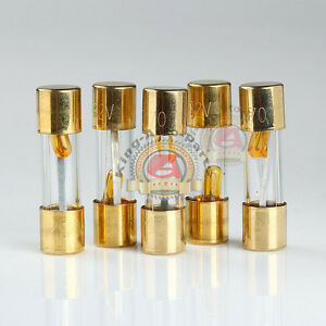 s l300 5 pack agu fuse 70a amp gold plated glass with blown fuse led