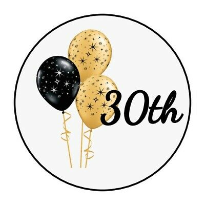 """30 OLD MAN 40TH BIRTHDAY ENVELOPE SEALS LABELS STICKERS PARTY FAVORS 1.5/"""" ROUND"""
