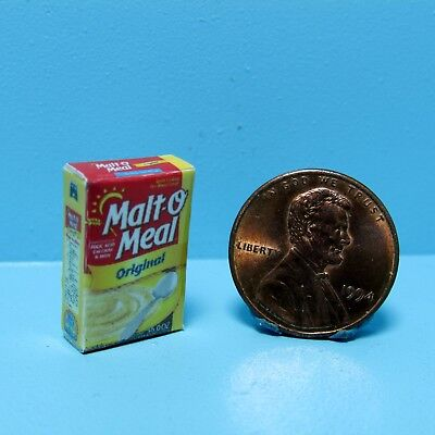 Dollhouse Miniature Replica Box of Malt O Meal Cereal ~ G044