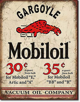 Mobiloil Gargoyle Metal Sign Tin New Vintage Style USA  #1897