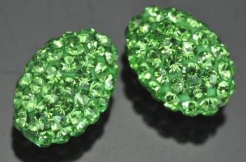 Perles Ovales Argile Polymère Cristal Strass 10mm pour Bracelet Shamballa
