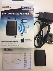 Toshiba Dww100 Stor.e Wireless Adapter Disco Esterno Hdd Usb Come Nuovo Completo Belle En Couleur