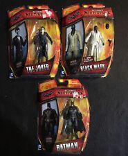 "Lot Of 3 DC Multiverse BATMAN Joker Black Mask Arkham 2015 3.75""Action Figure"