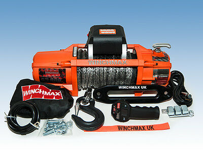 ELECTRIC WINCH 24V 4x4 13500 lb SL GENUINE WINCHMAX BRAND ORIGINAL ORANGE WINCH