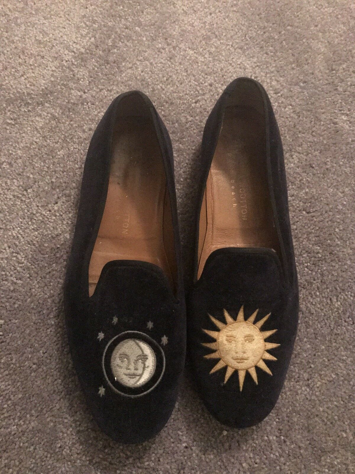 Stubbs and Wootton Velvet  LEOPARD  Slippers Loafers shoes