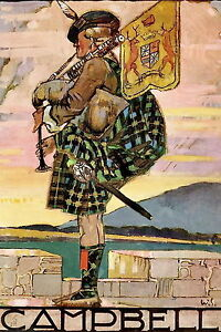 Art Print Family Clan CAMPBELL Bagpiper Scottish Tartan Kilt Highlander Bagpipes - Cannock, United Kingdom - Art Print Family Clan CAMPBELL Bagpiper Scottish Tartan Kilt Highlander Bagpipes - Cannock, United Kingdom