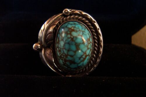 SPIDERWEB Turquoise old #8 SUPERB- size 7- Vintage