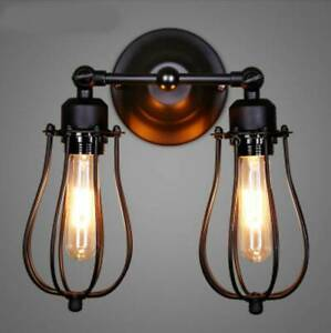 Modern Retro Vintage Industrial Wall Mounted Lights Rustic Sconce Lamps