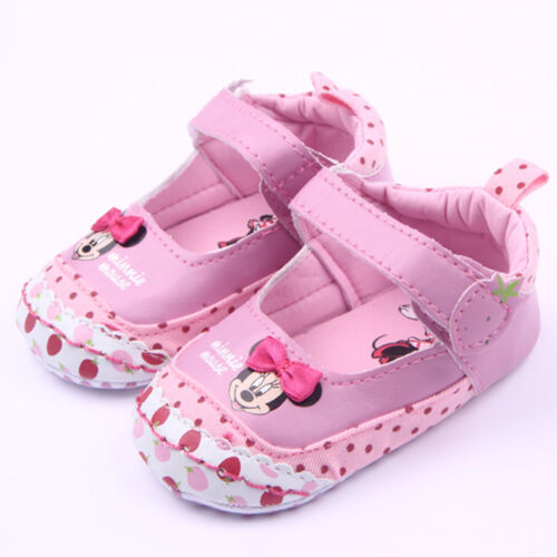Toddler Baby Girl Crib Minnie Mouse Antiskid Pram Sandal Shoes Cartoon Prewalker