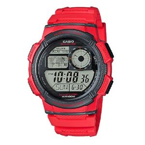 Casio-AE-1000W-4AV-Red-Digital-Sports-Watch-Retail-Box-Included