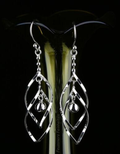 Lange Ohrhänger 5,4 cm kleine Kugel Ohrringe Silber 925 NEU
