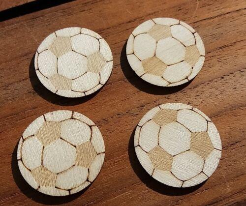 super niedliche Holz Fußball Fußbälle Deko Geschenk Basteln Deko Scrapbooking