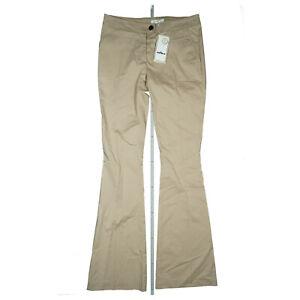 AIRFIELD-Damen-Stoff-Schlag-Hose-superleicht-Stretch-Luxus-36-beige-bootcut-Neu