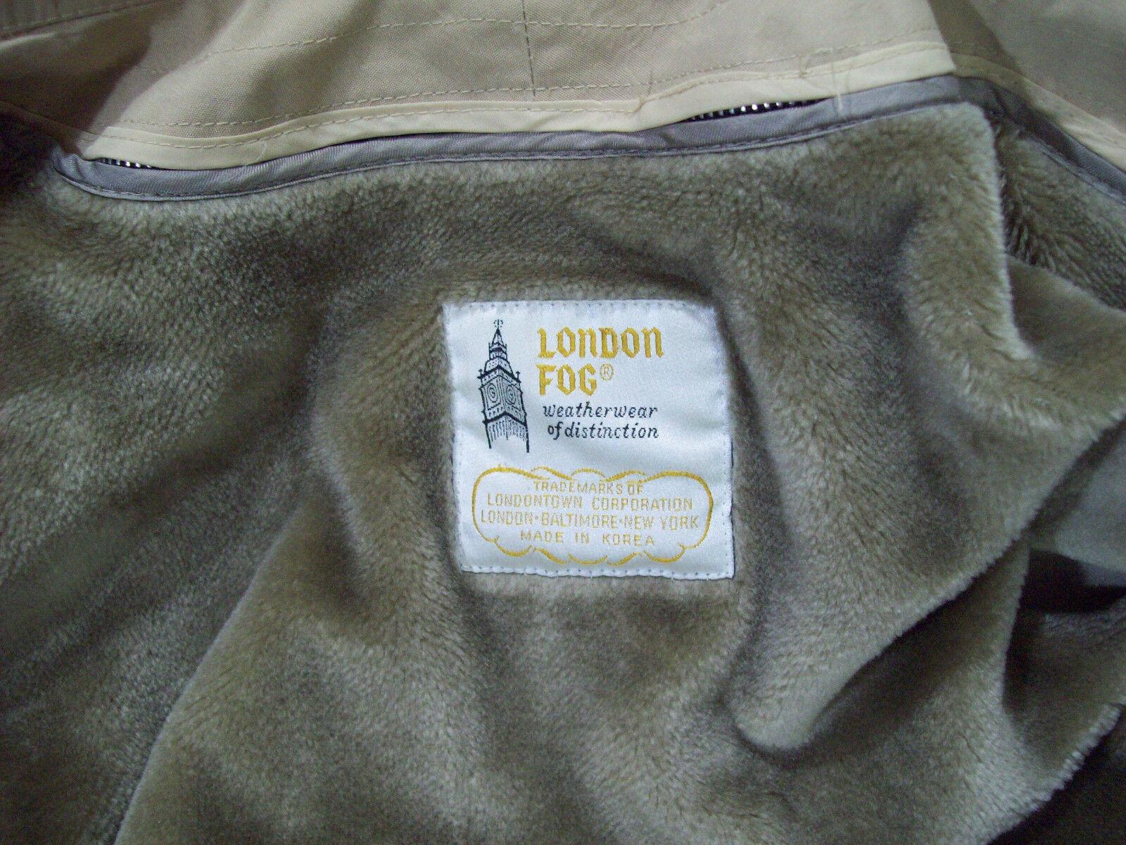 LONDON FOG Women's Women's Women's Tan Coat Removable Hood Zip Out Liner Belted Tan sz 9 10 aab7ab