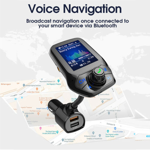 Bluetooth wireles LCD for car mp3 player fm transmiter Remote SD USB Charger Kit