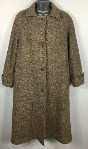 Mezcla de lana para mujer Windsmoor marrón rica mezcla Botones Smart Invierno Abrigo UK 14
