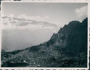 France-Alpes-d-Huez-vue-des-sommets-1937-Vintage-silver-print-vintage-silver