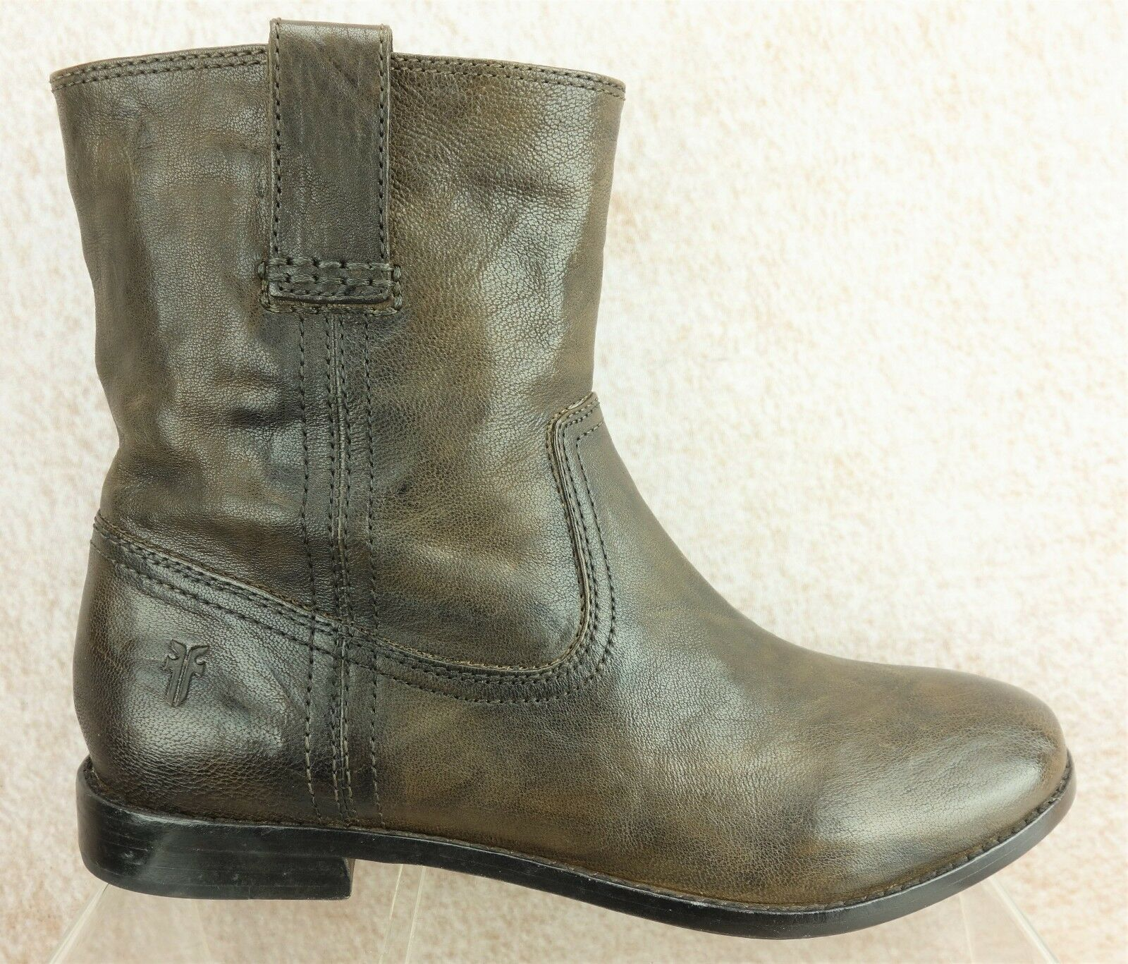Frye Anna Shortie Brown Leather Casual Ankle Pull On Boots Womens 7.5 M
