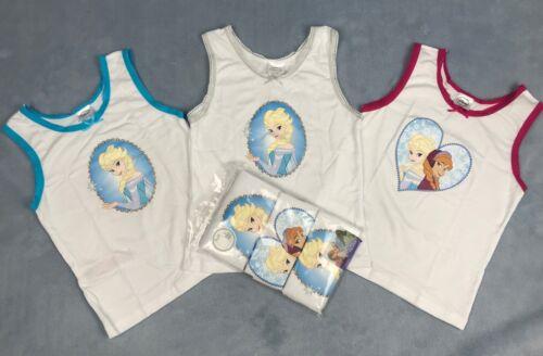 3 Pack Girls Vests Disney Frozen Infants Underwear Size 2-8 Years